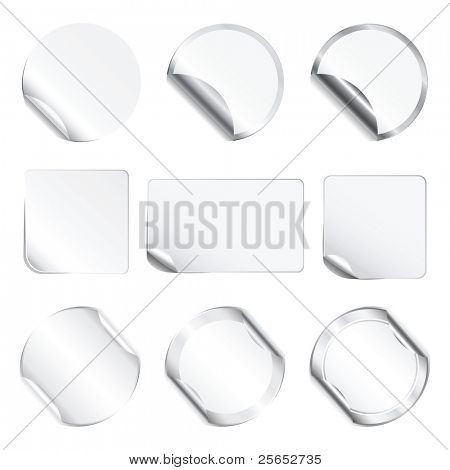 Set white stickers