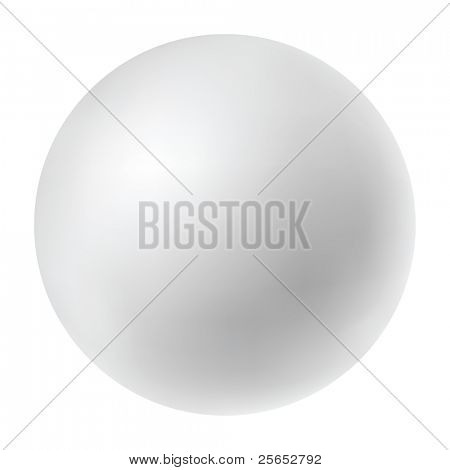 Vector pearl isolated in white background