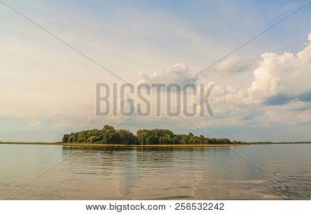Cosmonauts Island (or Island Of Love) On The Lake Svityaz  (svitiaz, Shatsky National Natural Park,