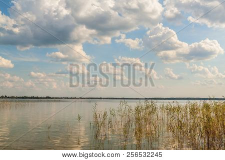 Summer Cloudy Evening On The Lake Svityaz  (svitiaz, Shatsky National Natural Park, Ukraine)