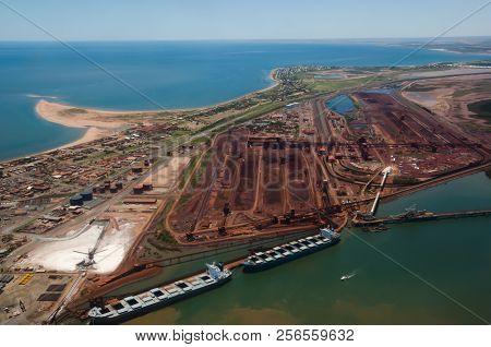 Aerial View Of Port Hedland - Western Australia