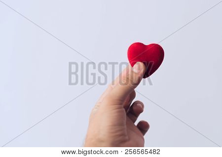 Red Heart In Hand, Concept Of Medicine Or Love
