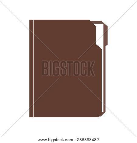 Folder With Document. Folder File Vector Illustration