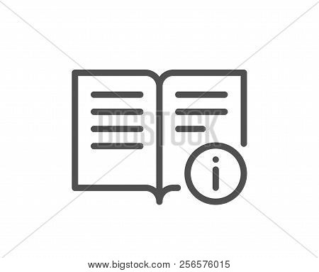 Technical Information Line Icon. Instruction Sign. Quality Design Element. Classic Style Information