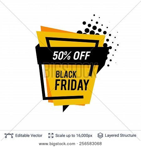 f04bf4f9ffb5f Black Friday Sale Badge. Geometric Shapes And Text
