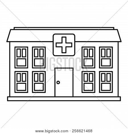 Hospital Icon. Outline Illustration Of Hospital Icon For Web