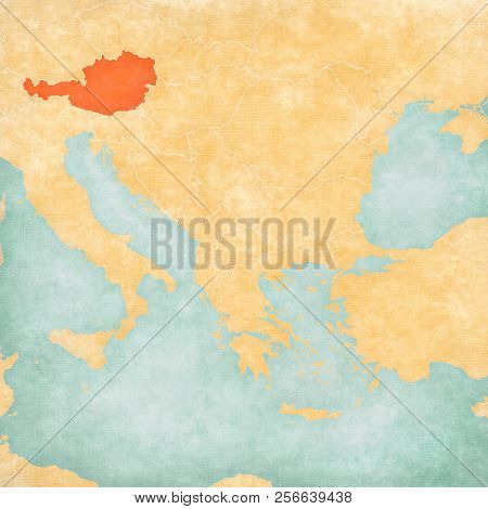 Austria On Map Balkans Image & Photo (Free Trial) | Bigstock