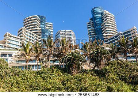 Beach Ocean  Coastline Landscape With Flat Apartment Buildings Holiday Lifestyle  Coastline Landscap