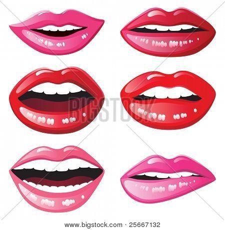 6 Lippen lächelnd