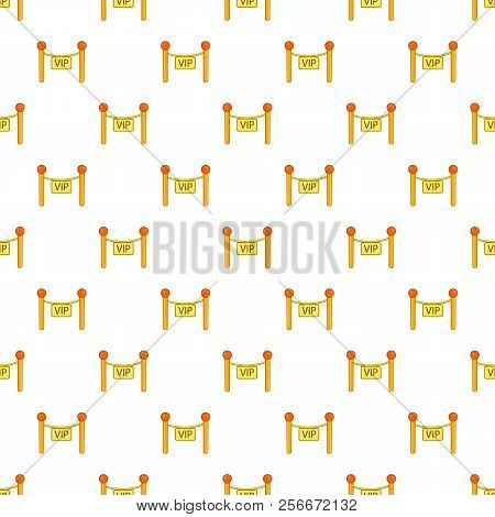 Decorative Poles With Tape For Vip Pattern. Cartoon Illustration Of Decorative Poles With Tape For V