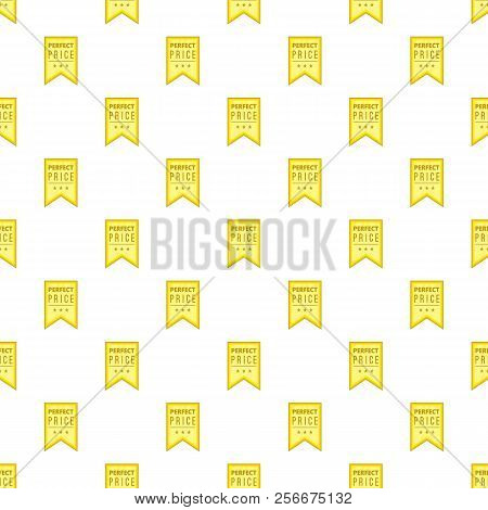 Label Perfect Quality One Hundred Percent Pattern. Cartoon Illustration Of Label Perfect Quality One