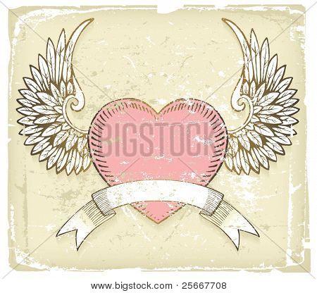 Retrostil Valentinstag Hintergrund