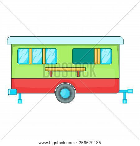 Mobile Home Icon. Cartoon Illustration Of Mobile Home Icon For Web Design