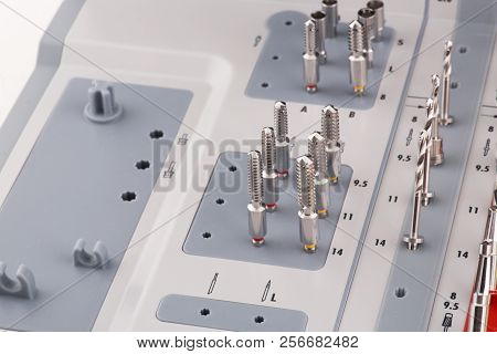 Surgical Kit For Dental Implantology Macro Close Up