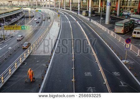 Highway Near The Beijing Capital Airport