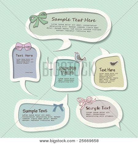 speech bubbles templates