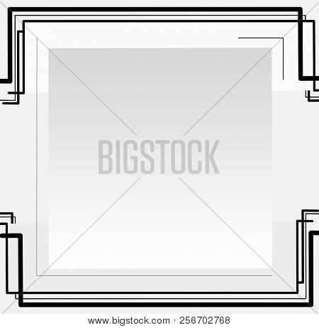 Black Line Abstract Or Abstract  Line Graphic Background.