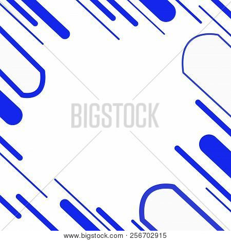 Graphic Line Blue Abstract Background.or White Background And Line Blue