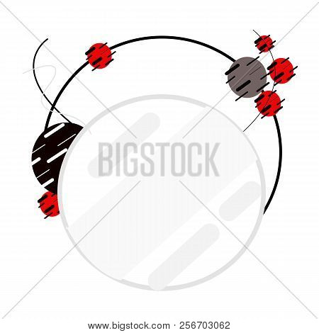 Abstract Circle Modern Style,or Background Red And Black Circle Abstract.