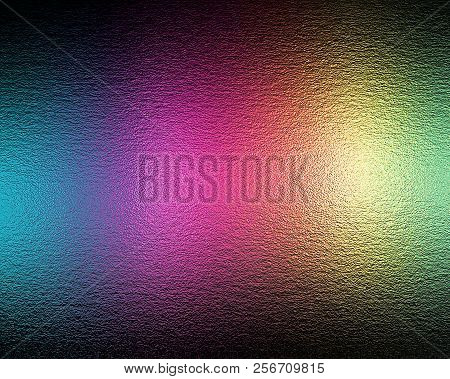 Colored Silver Foil Texture In Rainbow Colors, As A Colorful Background