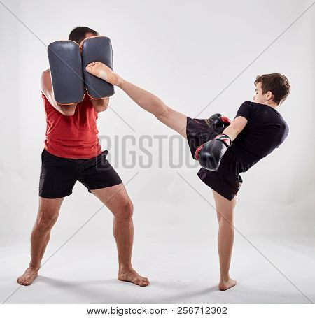 Kickboxer Kid And His Coach