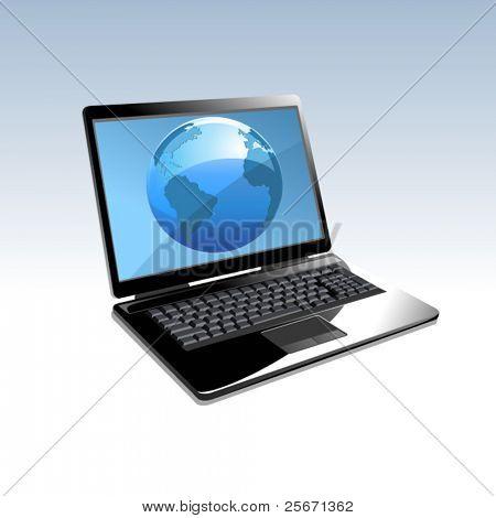 便携式计算机 internet 图标