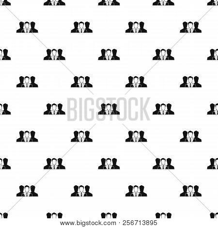 Unidentified Male Avatars Pattern. Simple Illustration Of Unidentified Male Avatars Pattern For Web