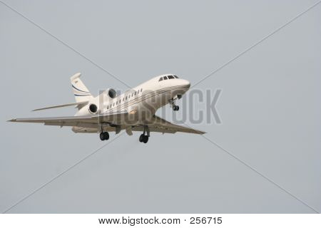 Business Jet Departing