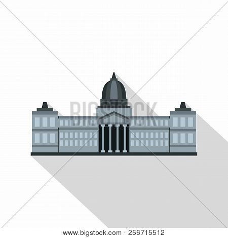 National Congress Building, Argentina Icon. Flat Illustration Of National Congress Building, Argenti