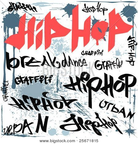hip hop graffiti vector urban background