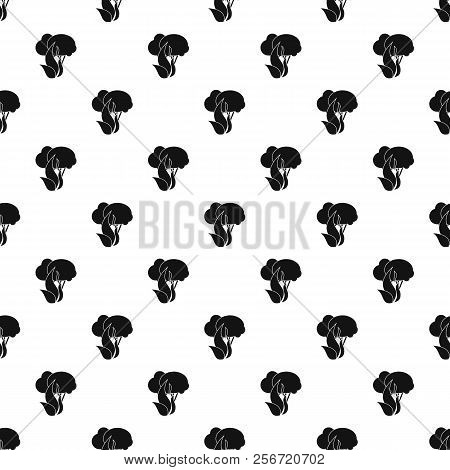 Fire In Woods Pattern. Simple Illustration Of Fire In Woods Pattern For Web