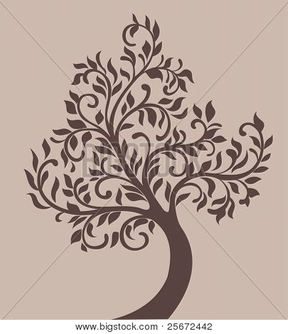 vintage tree vector design