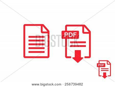 File Download Icon. Document Icon Set. Pdf File Download Icon