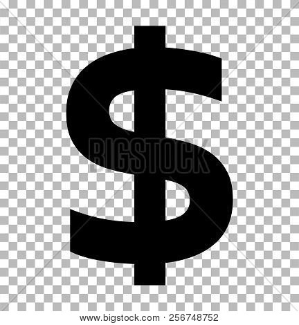 Dollar Sign Isolated On Transparent Background. Dollar Icon For Your Web Site Design, Logo, App, Ui.
