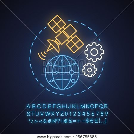 News Studio Neon Light Concept Icon. Worldwide Access Idea. Www. Glowing Sign With Alphabet, Numbers