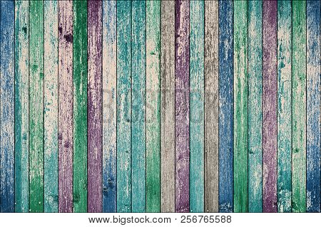 Grunge Colored Wood Texture As A Background