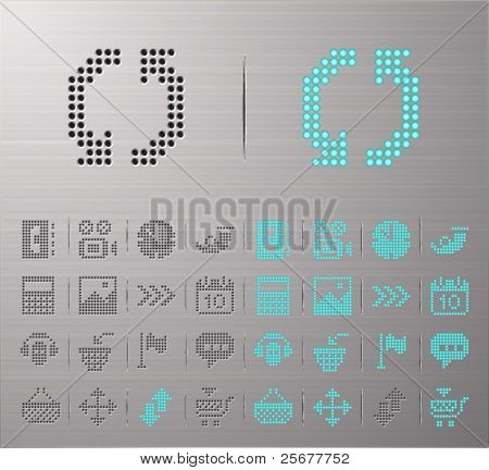 Perforated Computer and Internet buttons