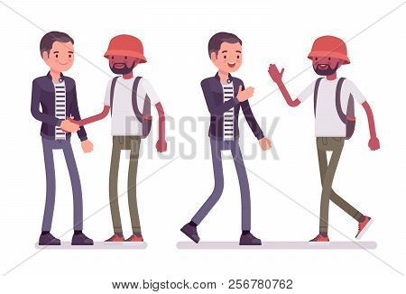 Male friends greeting vector photo free trial bigstock male friends greeting men black and white handshake high five gesture showing respect and agreement social manners etiquette m4hsunfo