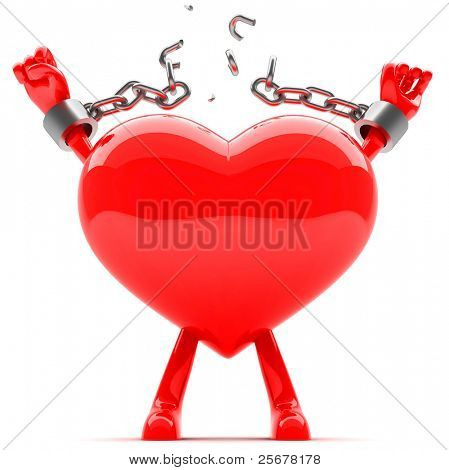Heart relise from chains