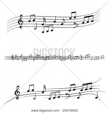 Music notes • Find more music notes in my portfolio •
