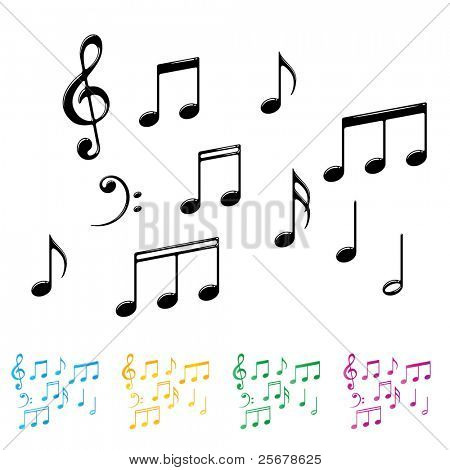Collection of Basic Notes • Find more music notes in my portfolio •