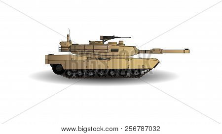 M1a2 Abrams Main Battle Tank Vector Illustration. This Is The Main Battle Tank Of The United States