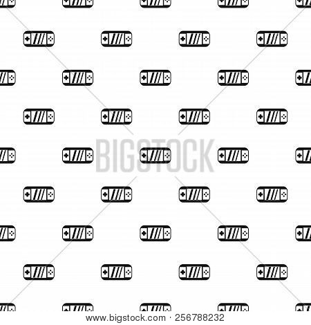 Portable Video Game Console Pattern. Simple Illustration Of Portable Video Game Console Pattern For