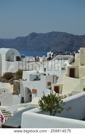 Typical & Picturesque Japanese Wedding In The City Of Oia On The Island Of Santorini. Wedding, Lands