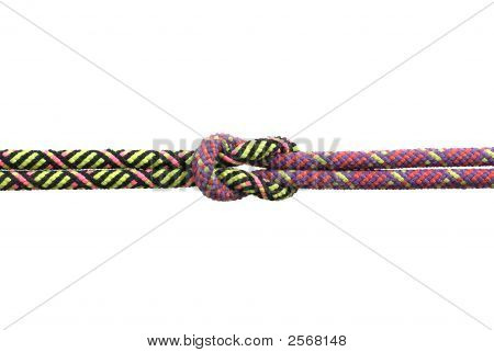 Ropes Tied Together In A Reef Knot