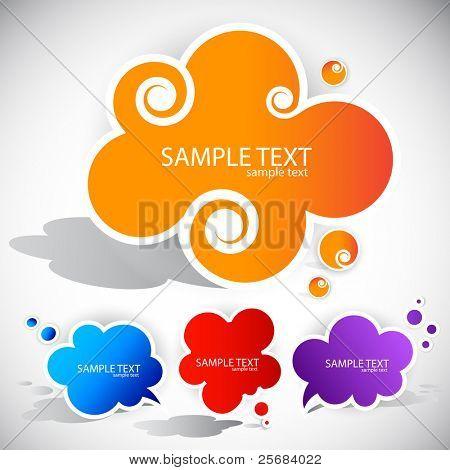 Papier-Wolke-Blase für Rede