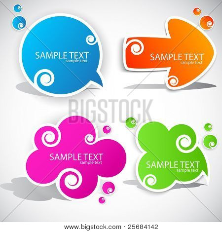 buntes Papier Bubble für Rede