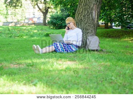 Save Your Time With Shopping Online. Sales Manager Occupation. Buy Clothes Online. Girl Sit Grass Wi