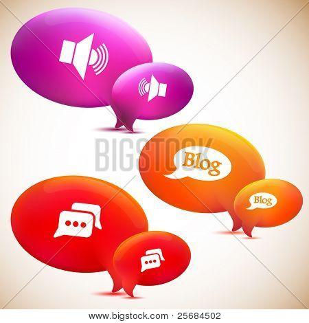 Speech bubble. Set