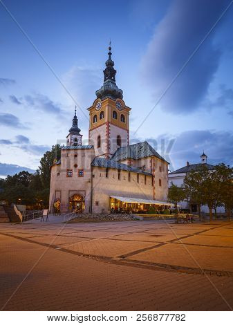 Banska Bystrica, Slovakia - July 19, 2018: Barbican In The Old Town Of Banska Bystrica, Central Slov